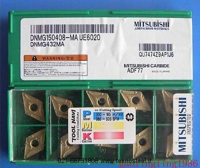 10PCS//BOX MITSUBISHI DNMG150408-MA UE6020 DNMG432MA Carbide Insert NEW IN BOX